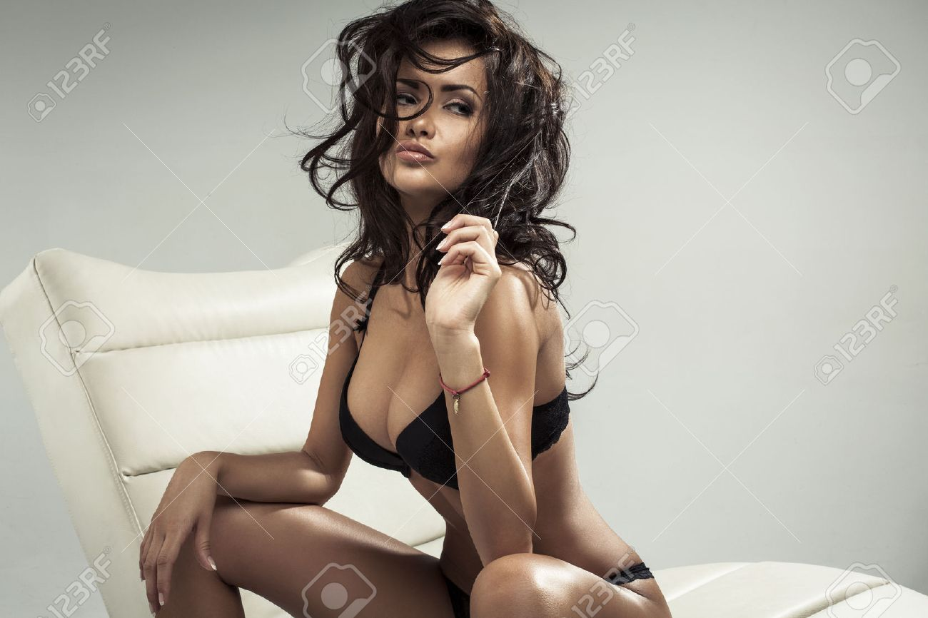 Portrait Of Sexy Brunette Stock Photo 22708764