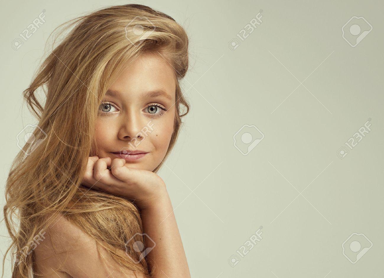 90c472297d3 Portrait of smiling little girl Stock Photo - 43540751