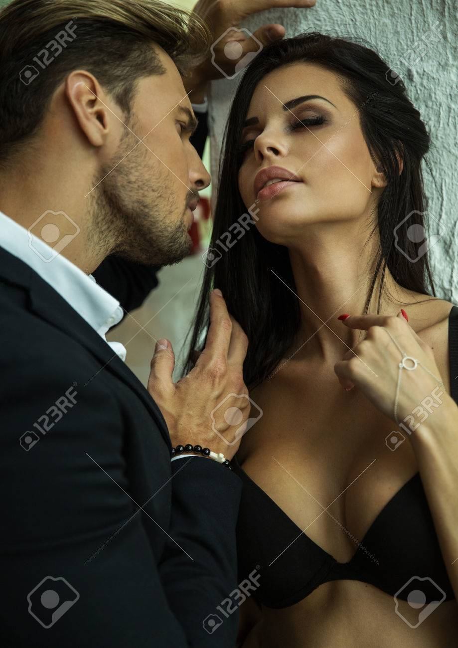 b11d92d76 Portrait Of Sexy Couple Stock Photo, Picture And Royalty Free Image ...