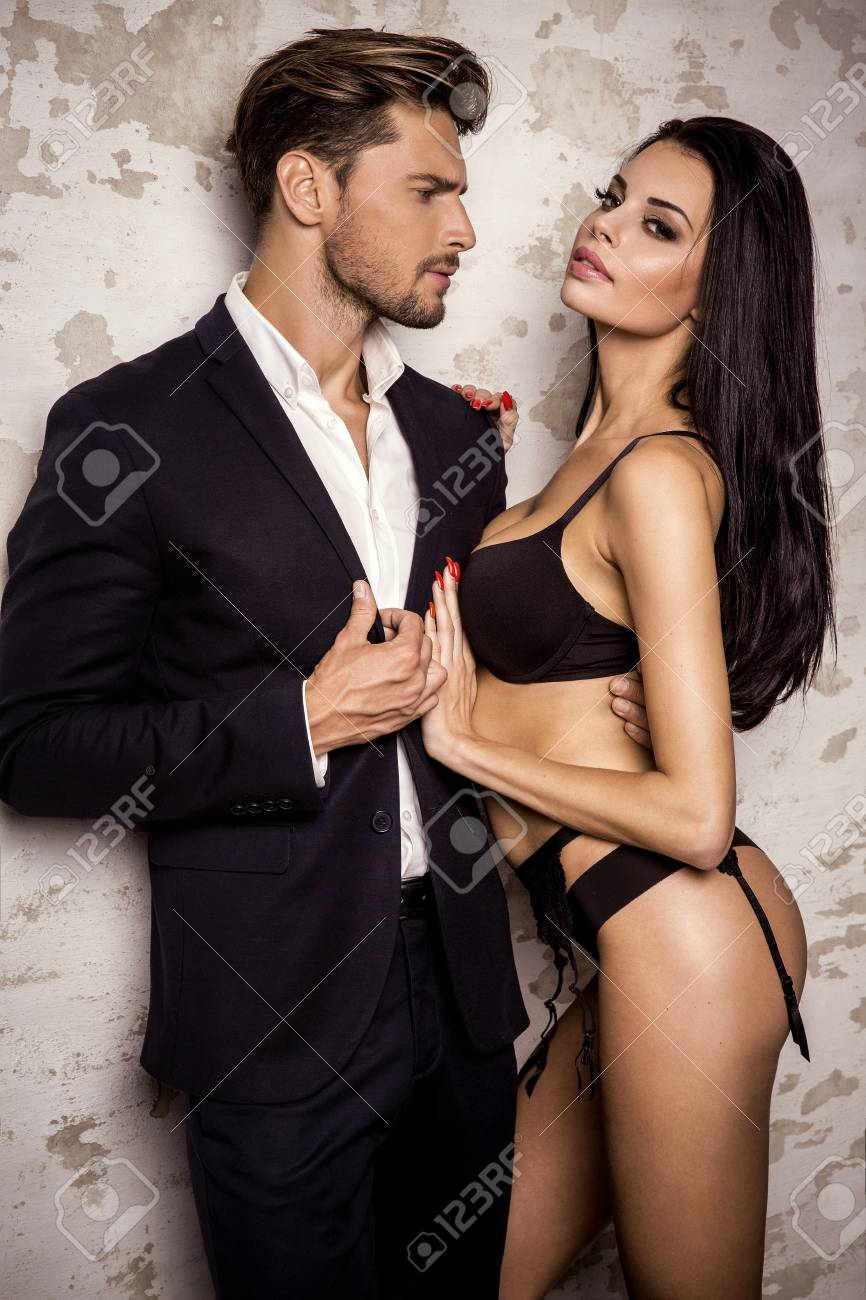 Sexy woman and man