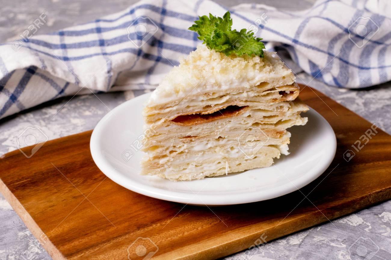 Kuchen Napoleon Russische Kuche Mehrschichtiger Kuchen Mit