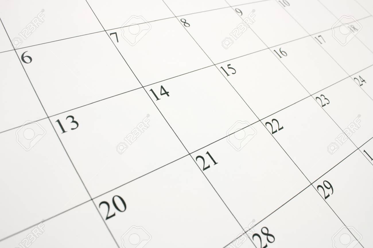 Cerca Calendario.De Cerca De Una Pagina De Calendario