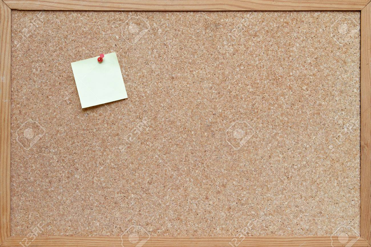 Post It Note Pinned To A Blank Cork Board Bulletin Board With ...