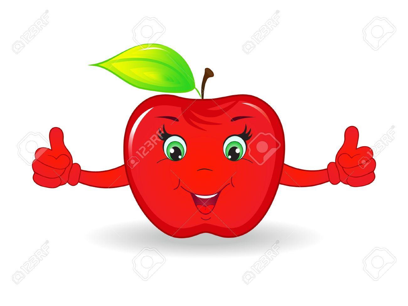 cartoon apple fruit background