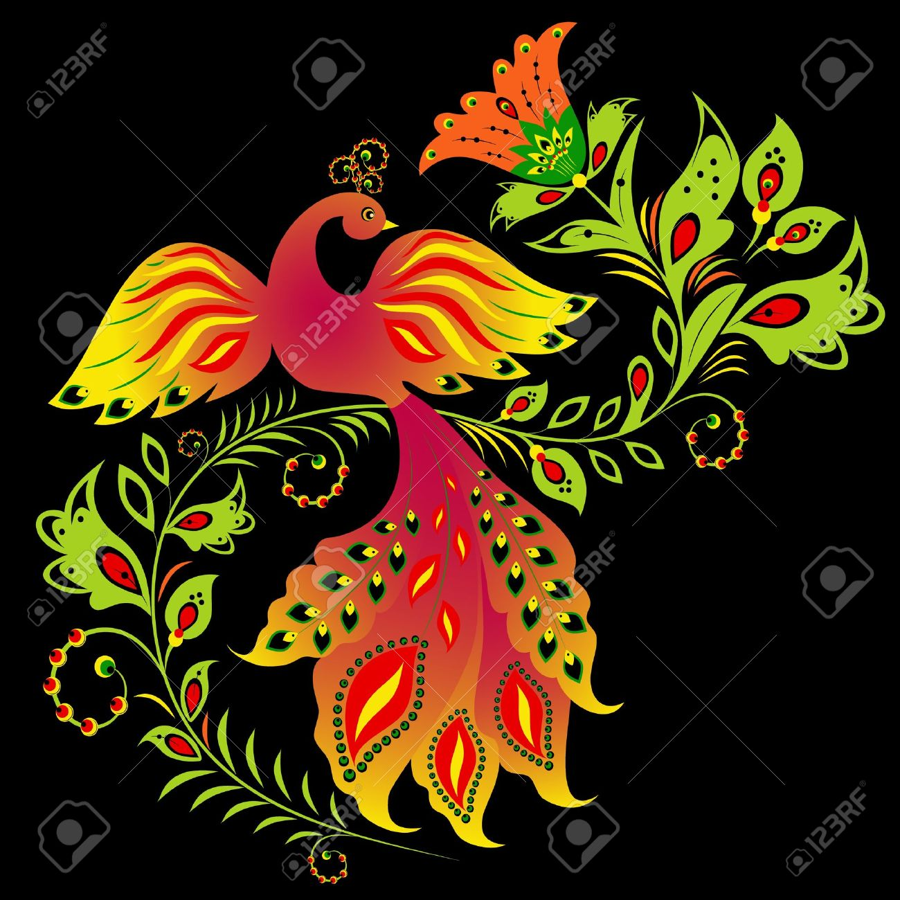 Illustration of traditional Russian ornament Stock Vector - 11181580