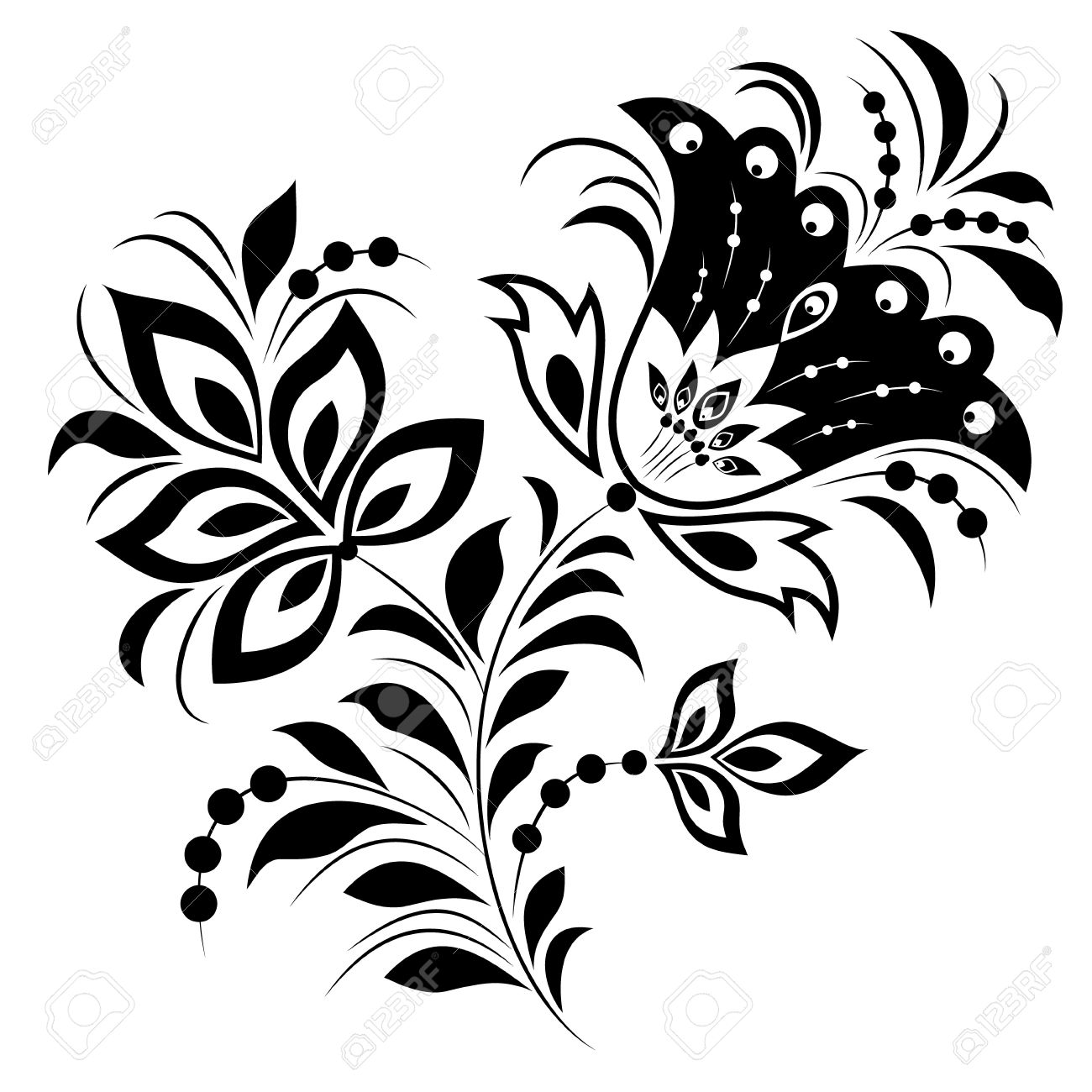 illustration of abstract flower isolated on white background stock vector 12077537