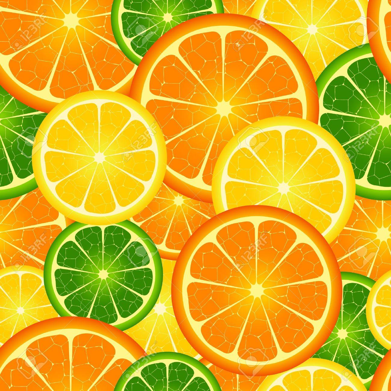 Illustration of seamless orange background - 12492907