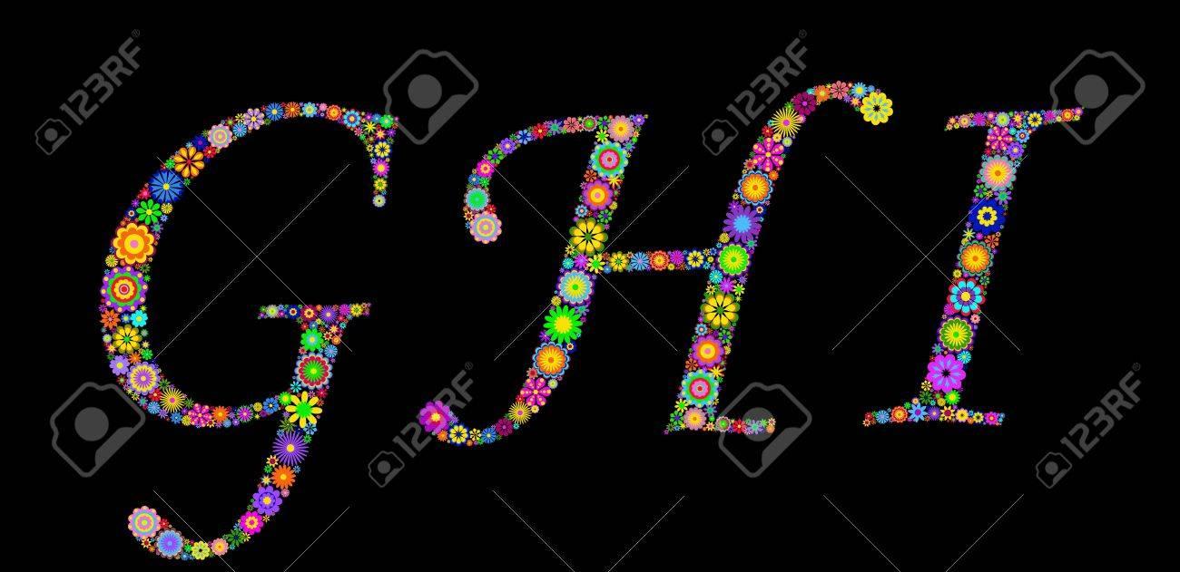 Illustration of letters on black background Stock Vector - 12492873