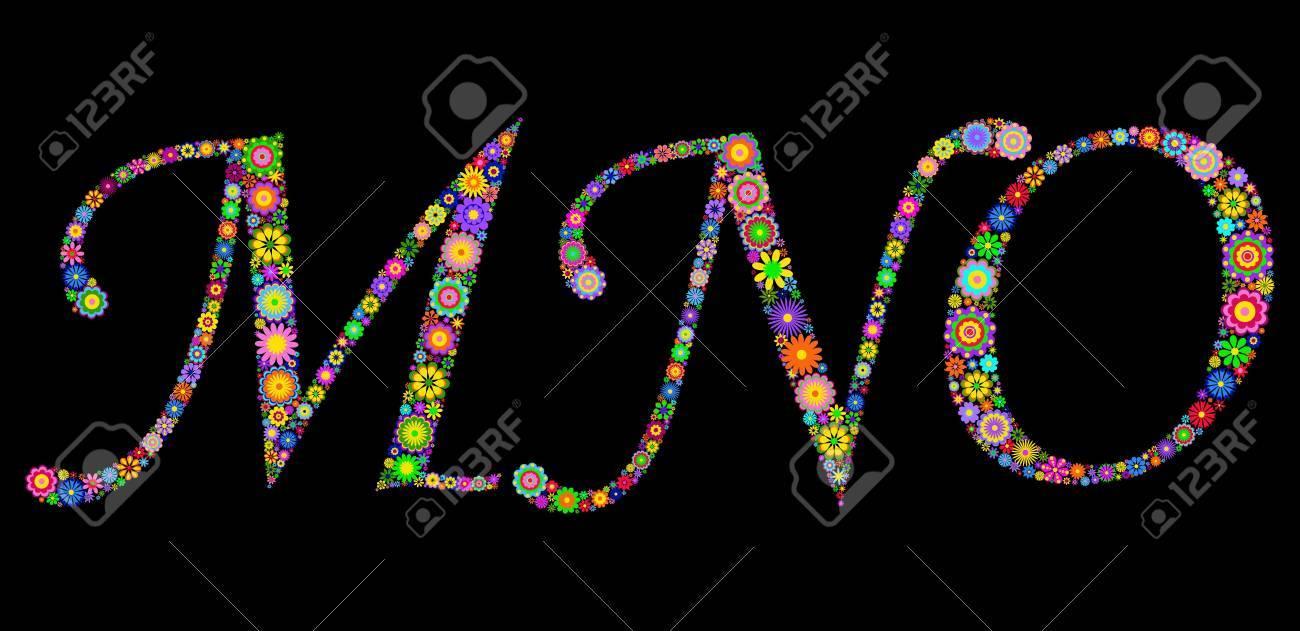 Illustration of letters on black background Stock Vector - 12492888