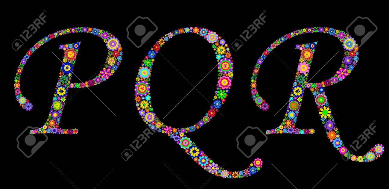 Illustration of letters on black background Stock Vector - 12492884