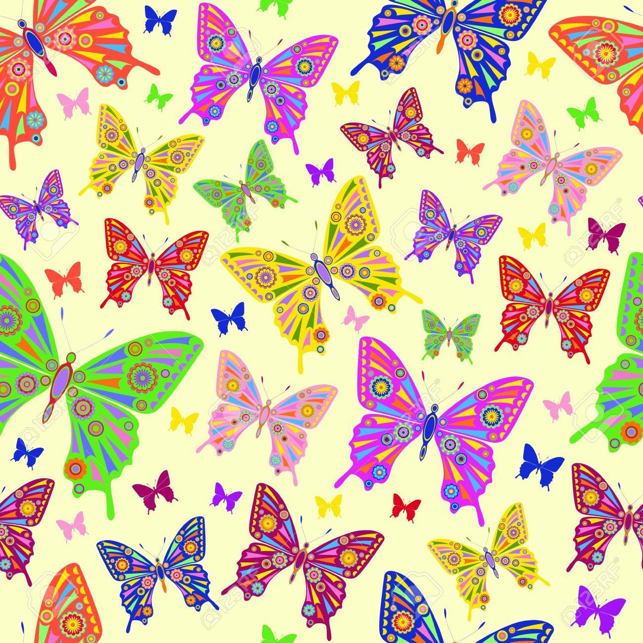 Illustration of abstract batterflies on pastel background Stock Vector - 12844405