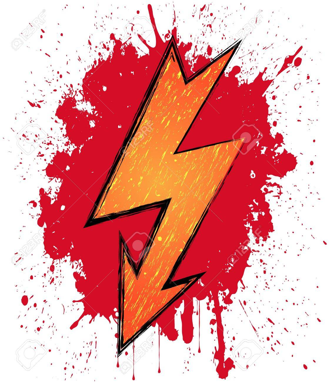 Illustration of lightning symbol on blood background Stock Vector - 13594262