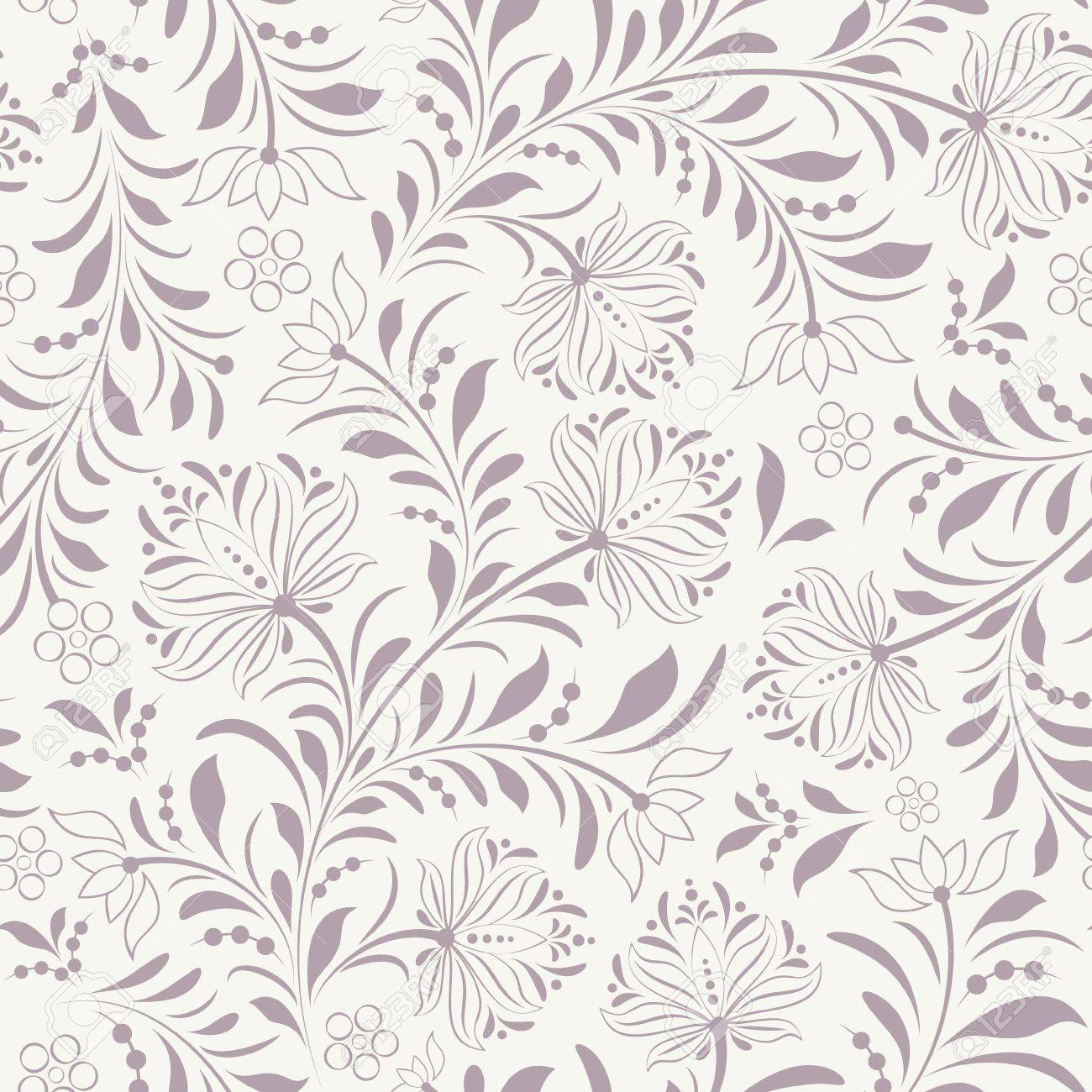 illustration of seamless pattern with abstract flowers.Floral background Stock Vector - 15687665