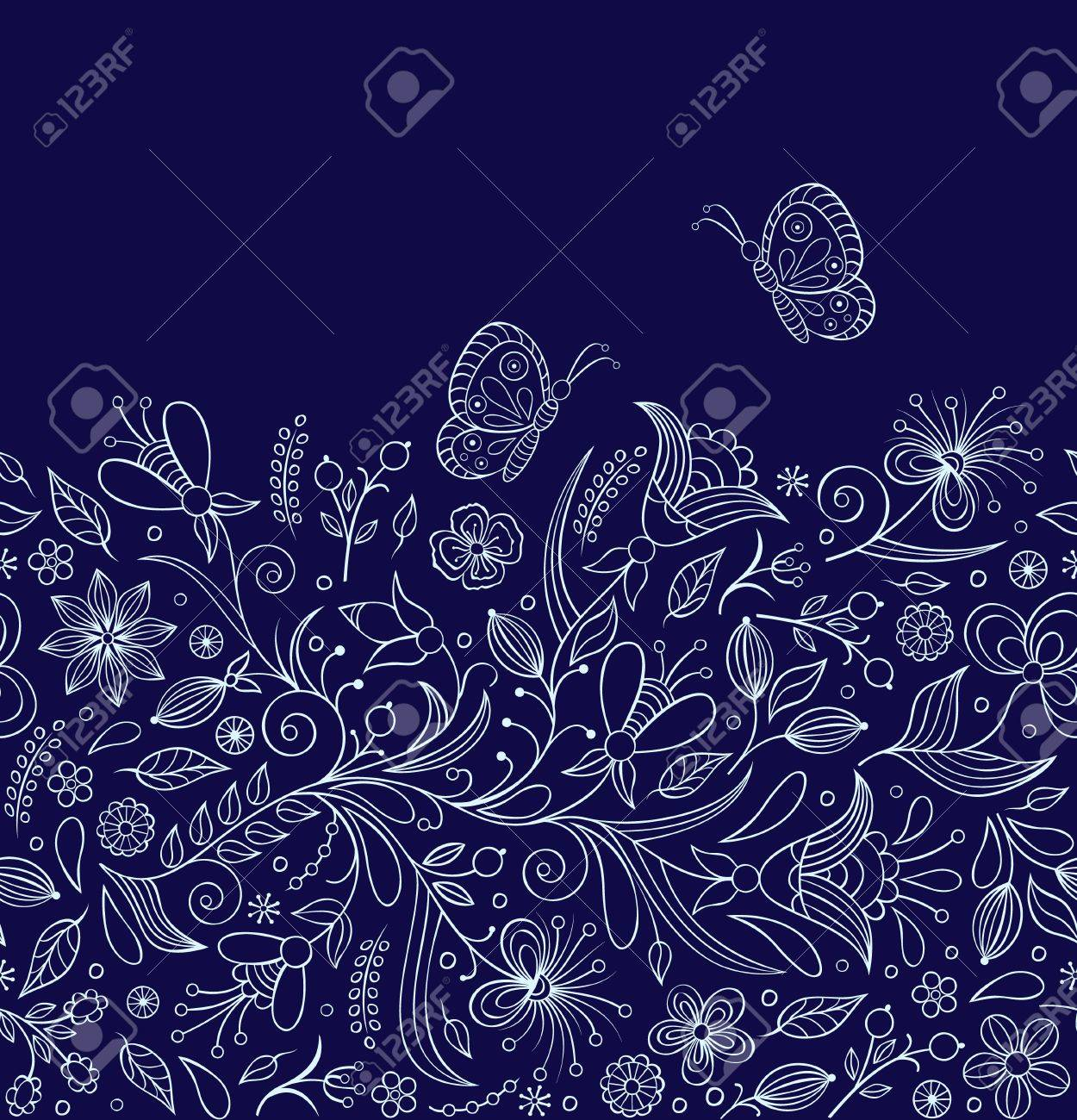 seamless pattern with abstract flowers.Floral background Stock Vector - 17117516