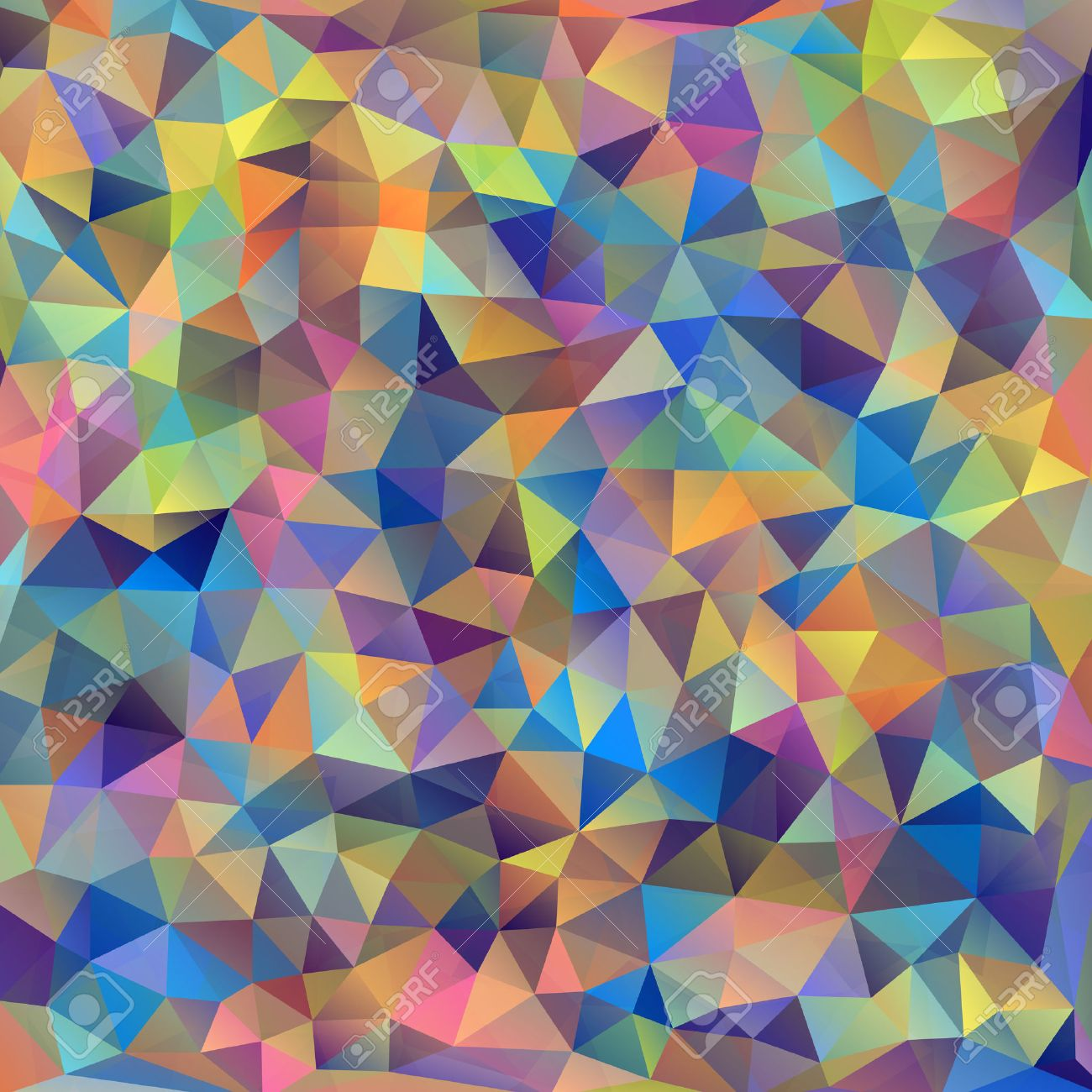 Vector illustration of abstract colorful triangles background Stock Vector - 22567332