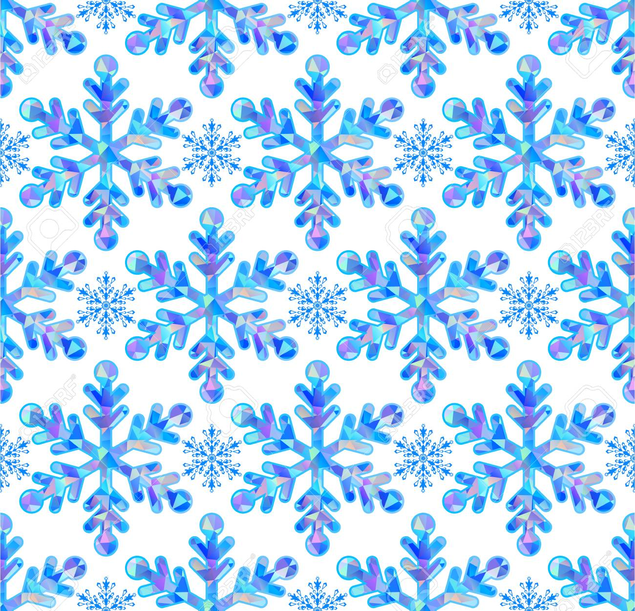 Vector illustration of seamless paterm with abstract snowflakes Stock Vector - 22567347