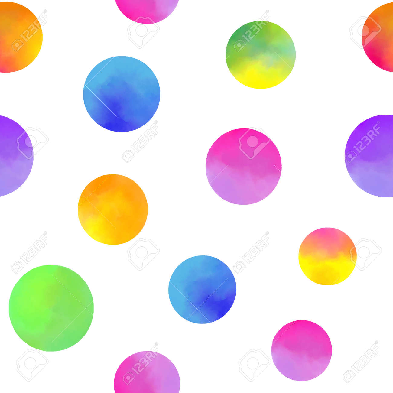 pattern with watercolor circles - 168416098