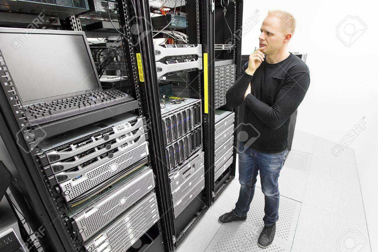 It Engineer Or Technician Monitors And Solving Problems With ...