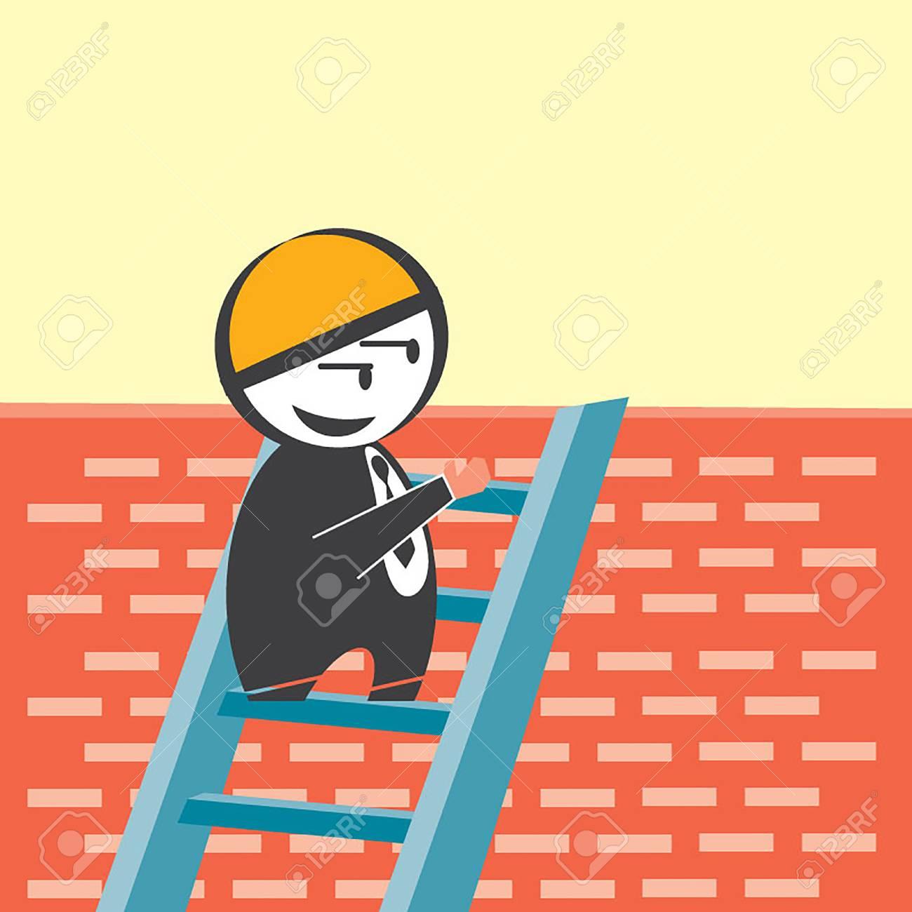 Businessman Peeking Behind Brick Wall Royalty Free Cliparts, Vectors ...