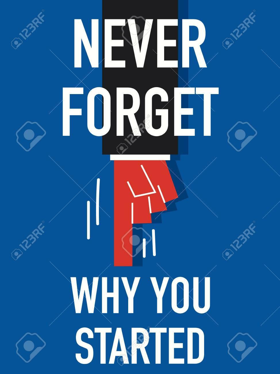 Palabra Nunca Olvide Por Qué Empezaste