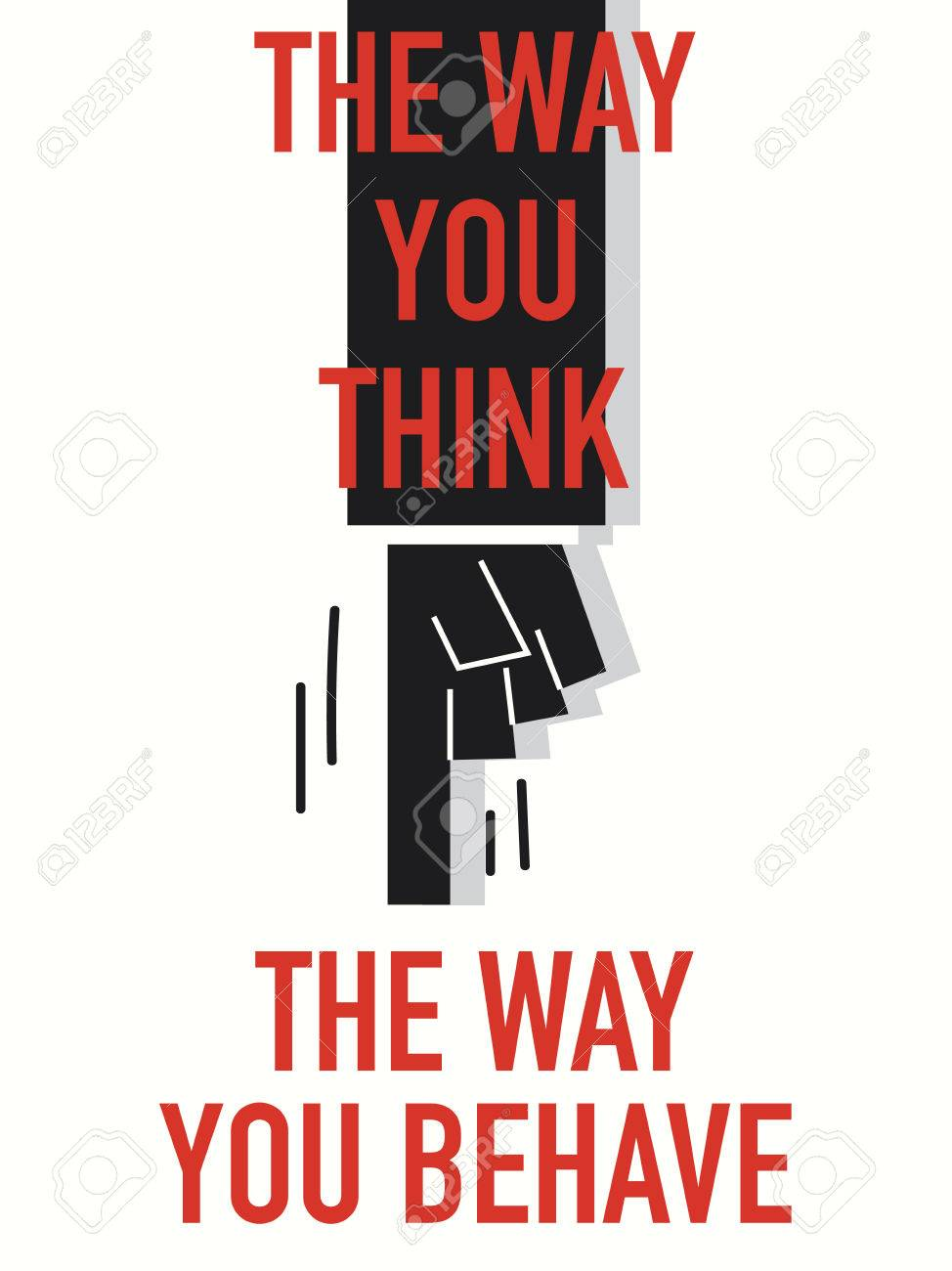 words the way you think the way you behave royalty free cliparts
