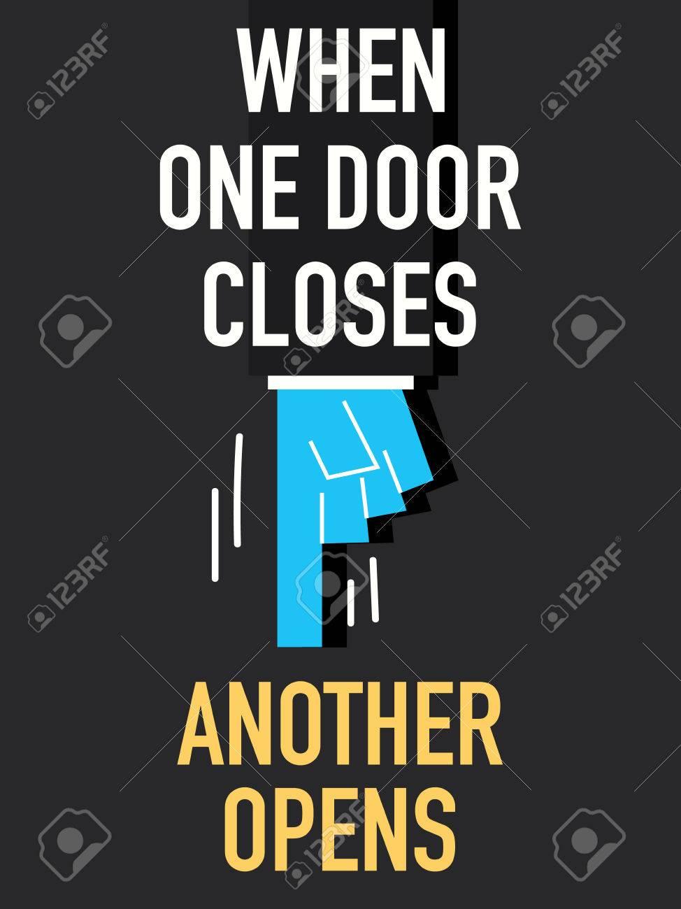 Words WHEN ONE DOOR CLOSES Stock Vector - 36842508  sc 1 st  123RF.com & Words WHEN ONE DOOR CLOSES Royalty Free Cliparts Vectors And Stock ...