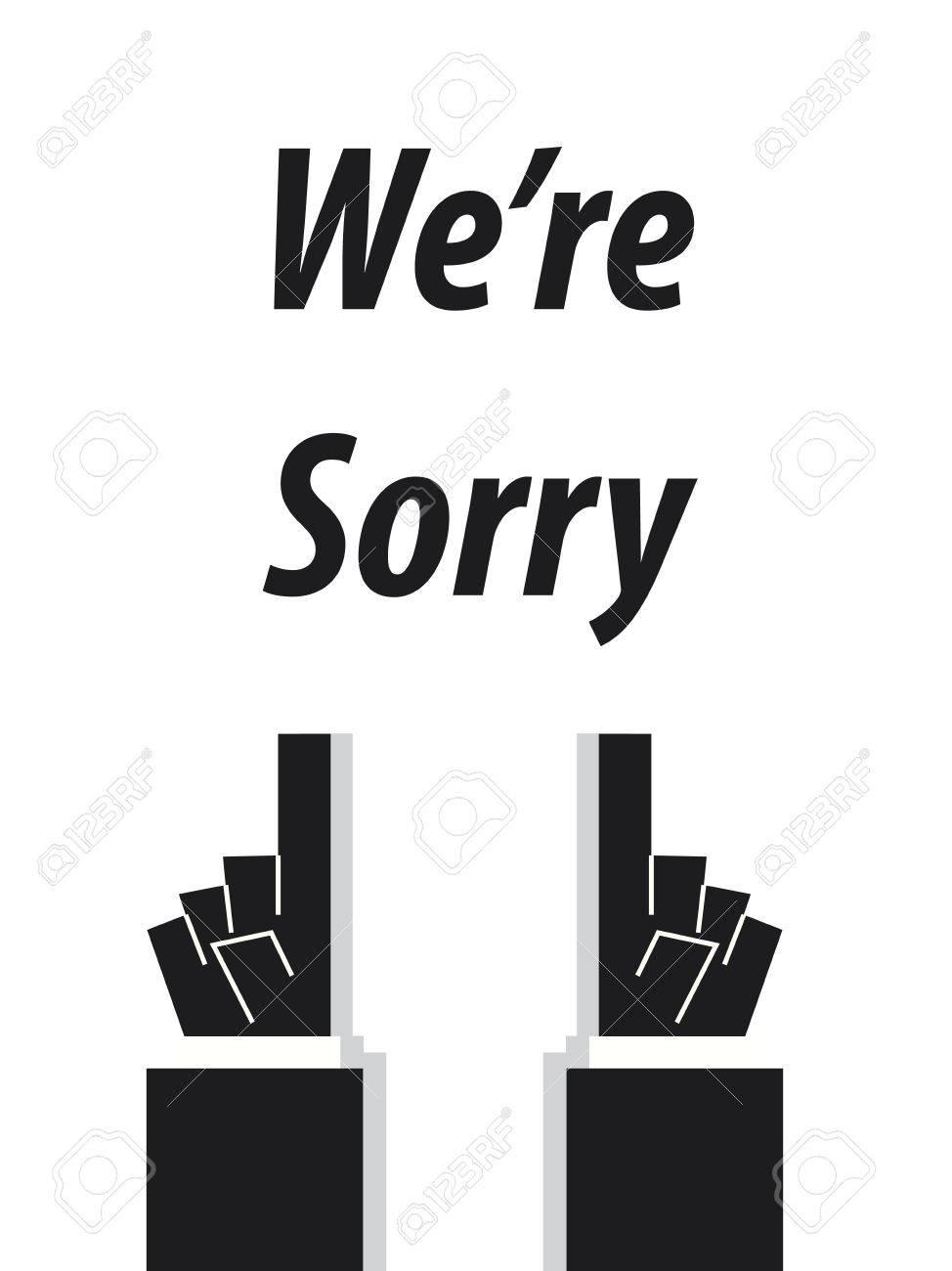 私達は申し訳ありませんがタイポグラフィのイラスト素材ベクタ Image