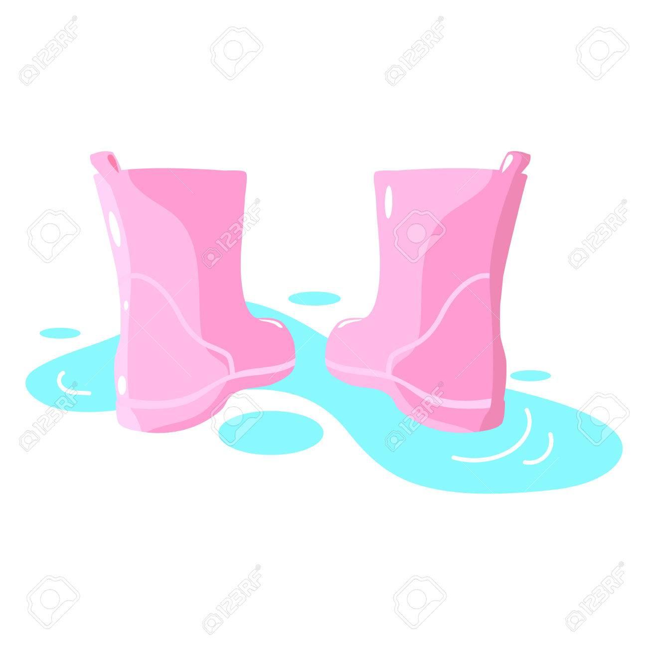 ピンクの水たまりイラストのイラスト素材ベクタ Image 60008641