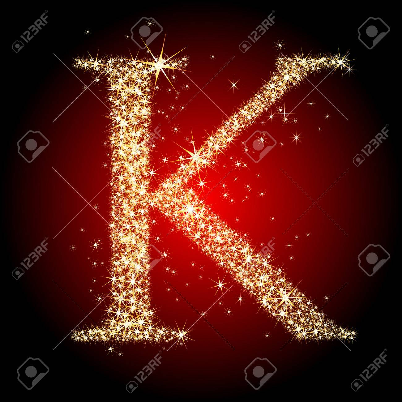 letter star K Stock Vector - 5712904