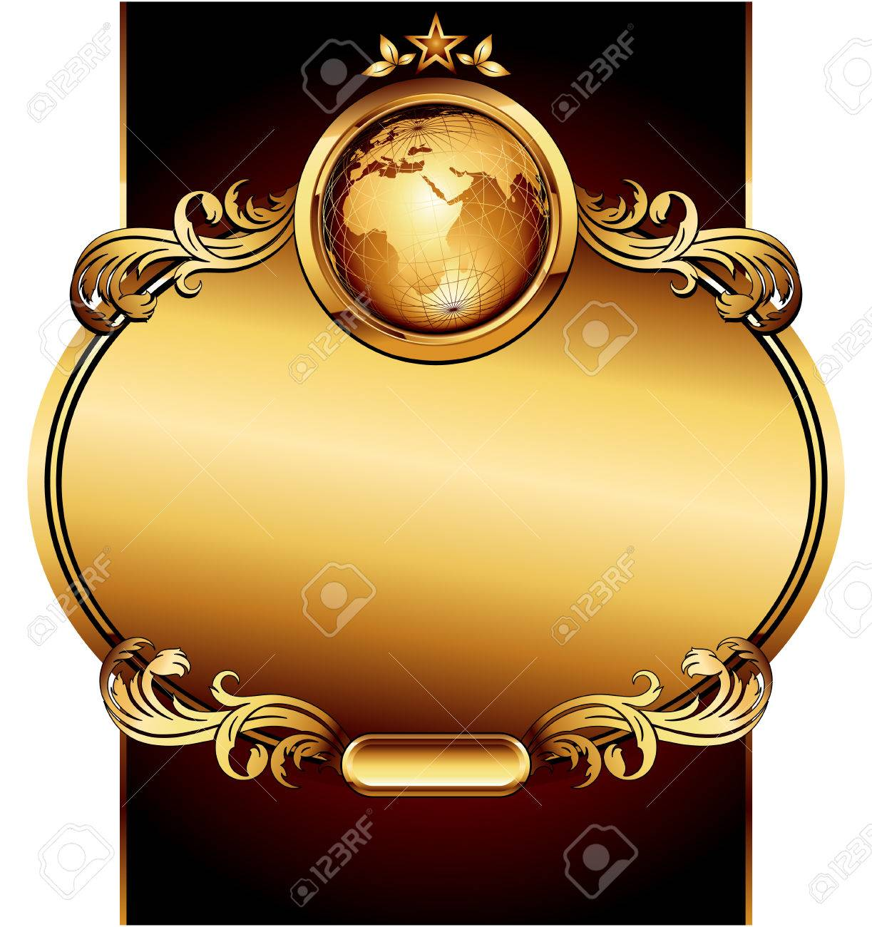 world with ornate Stock Vector - 7292414