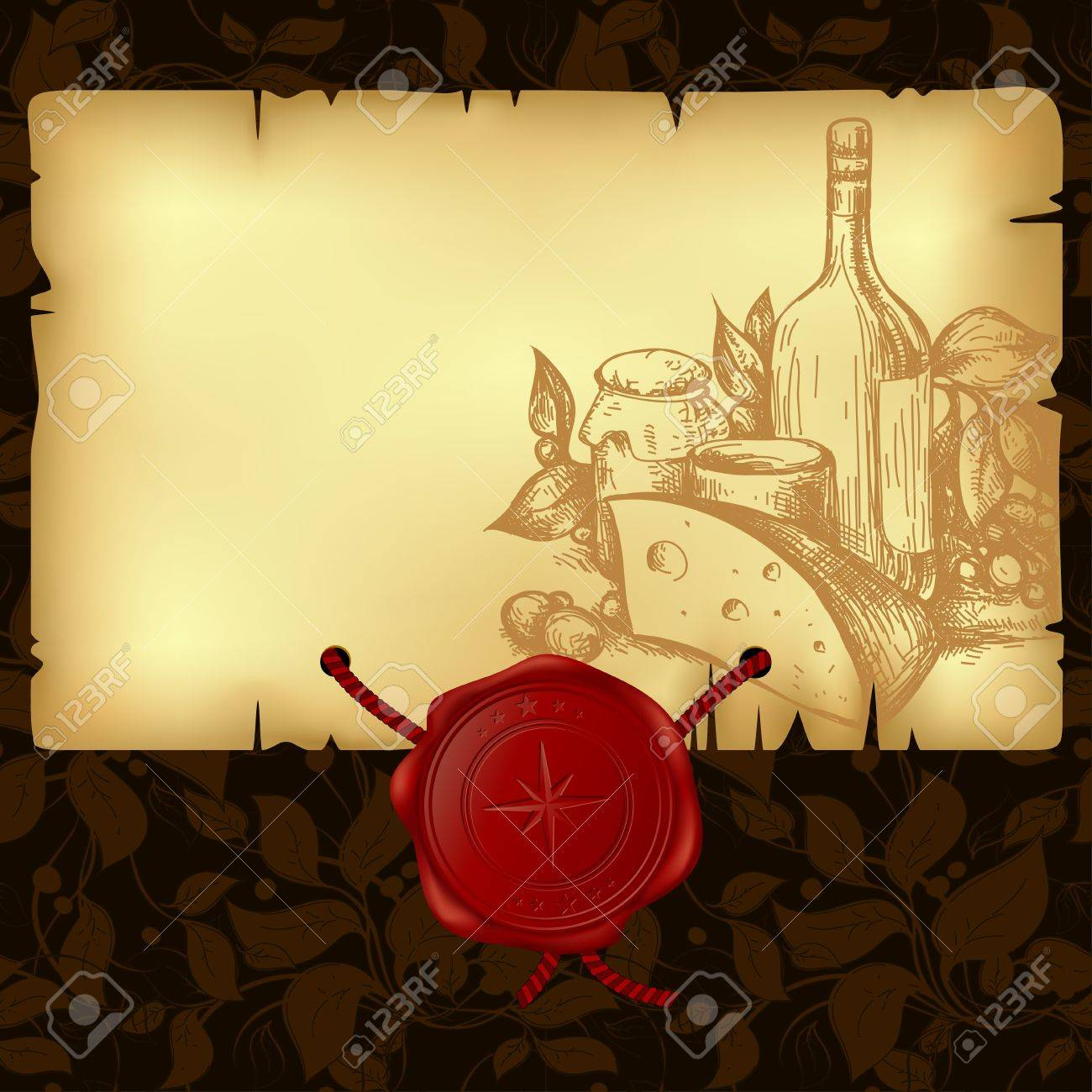 paper with wax seal Stock Vector - 10013989