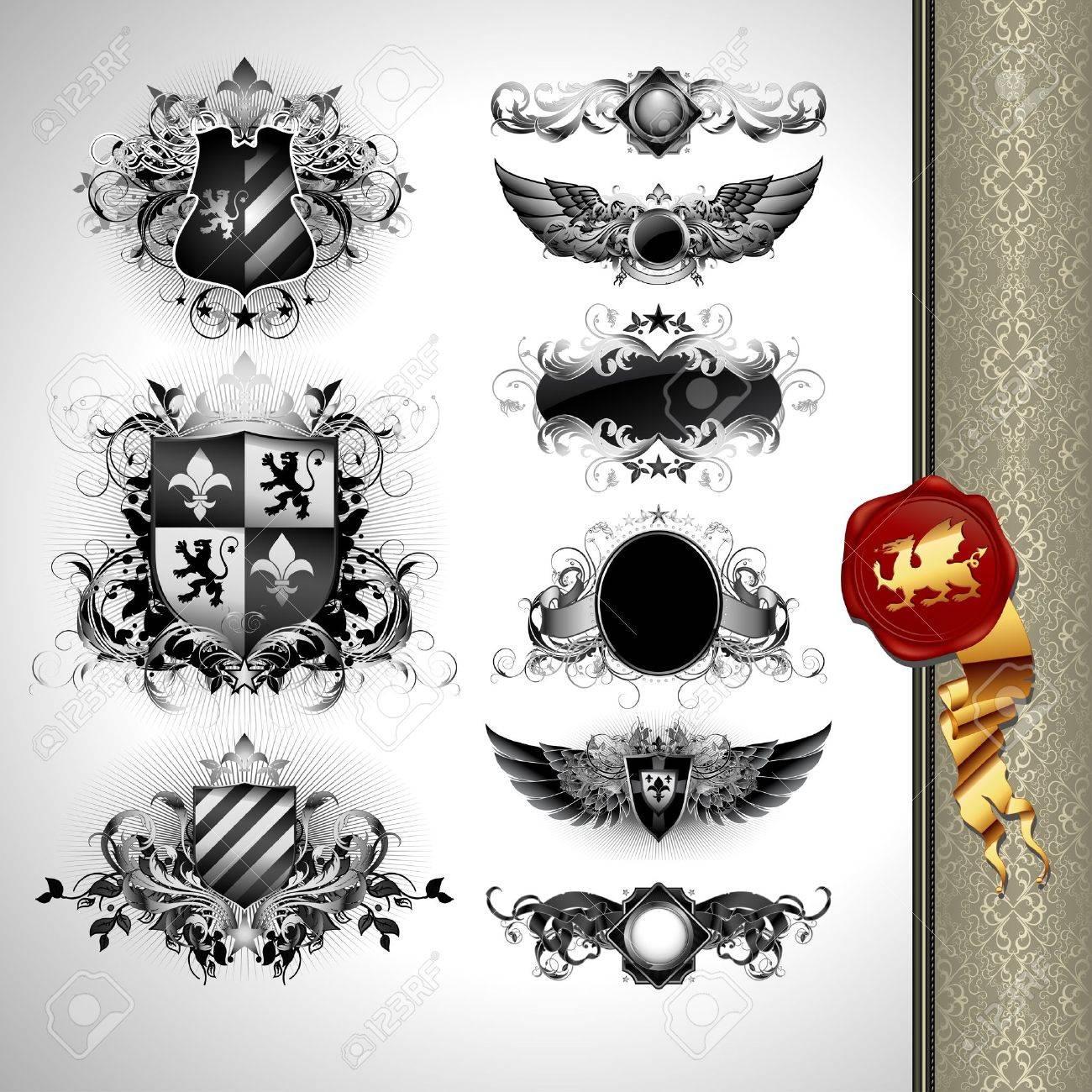 How to breed heraldic dragon - Heraldic Lion Medieval Heraldry Shields