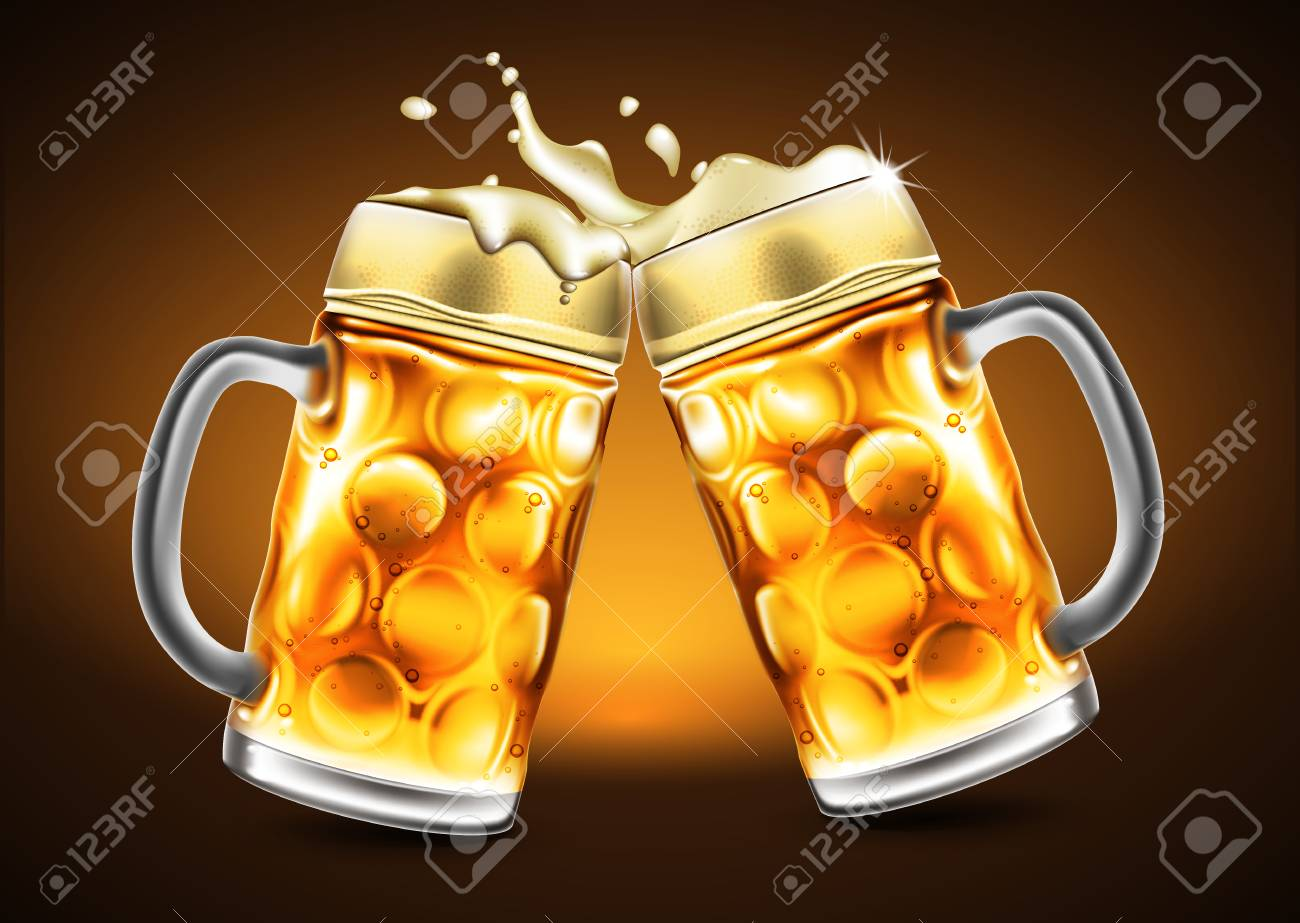Effet De La Biere verres de bière traditionnels avec des gouttelettes d'humidité