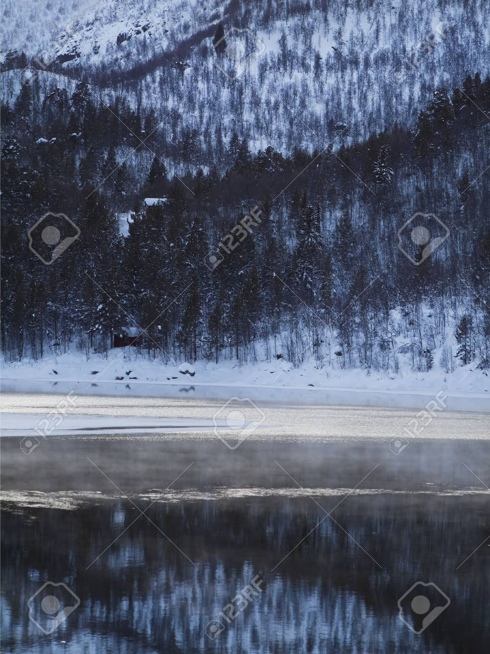Winter landscape in the Norwegian mountains Stock Photo - 6442293
