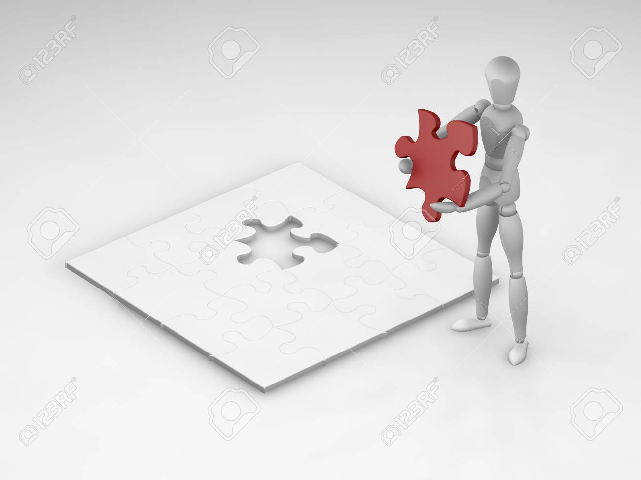 The final piece of the puzzle Stock Photo - 378911