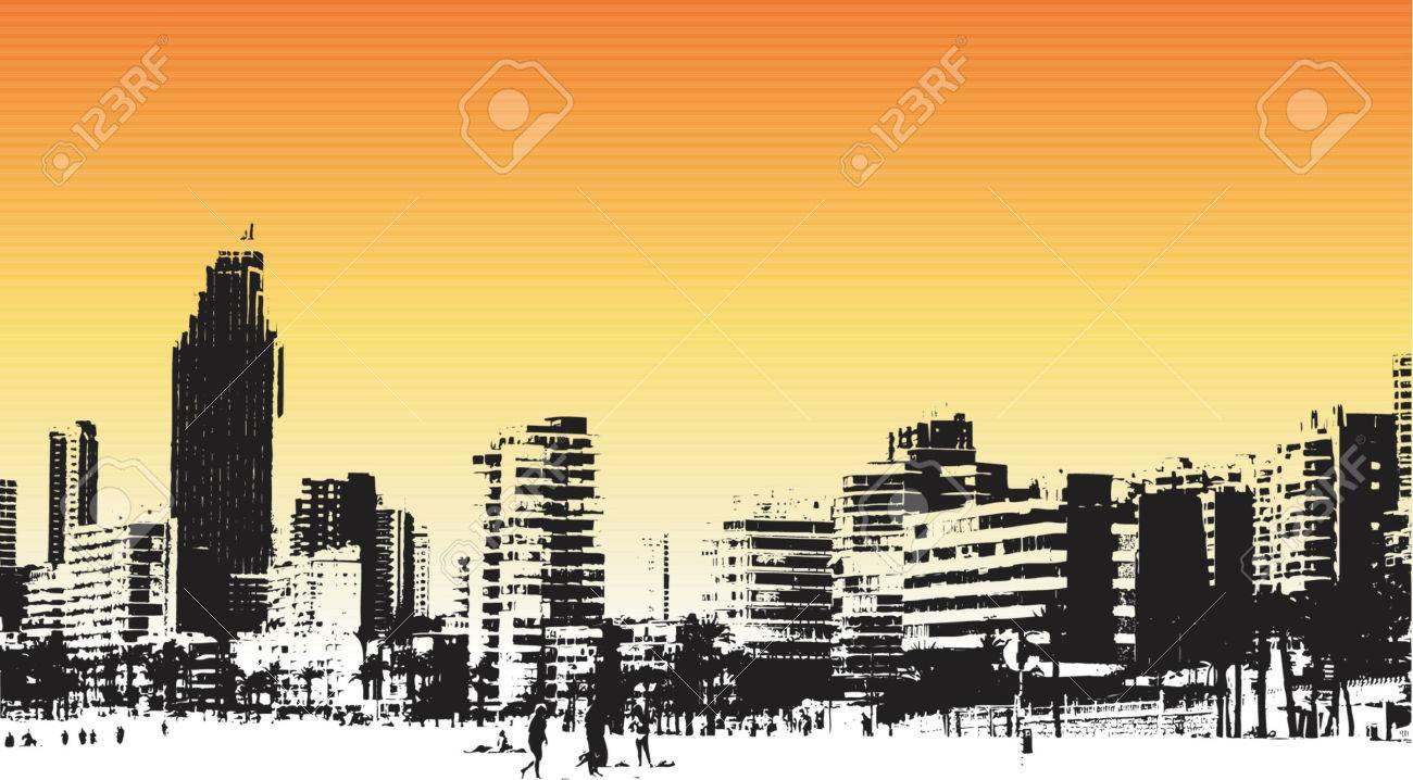 Benidorm, Spain grunge style - vector Stock Vector - 415054