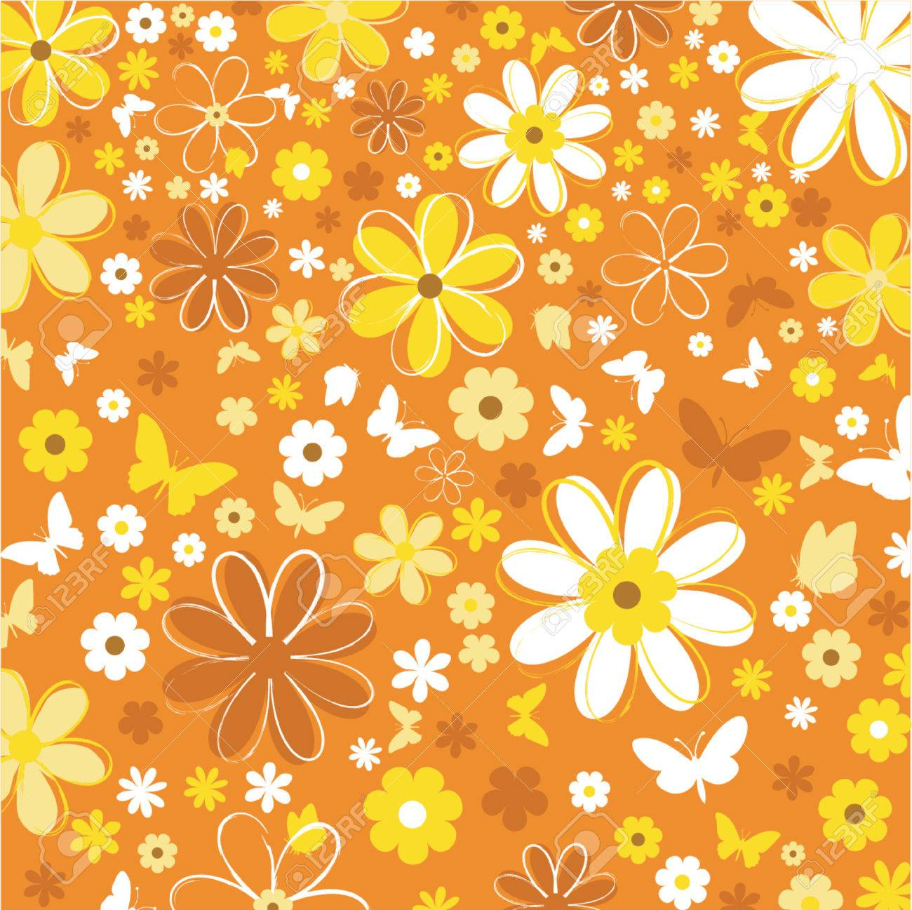 Flowers and butterflies - vector Stock Vector - 417258