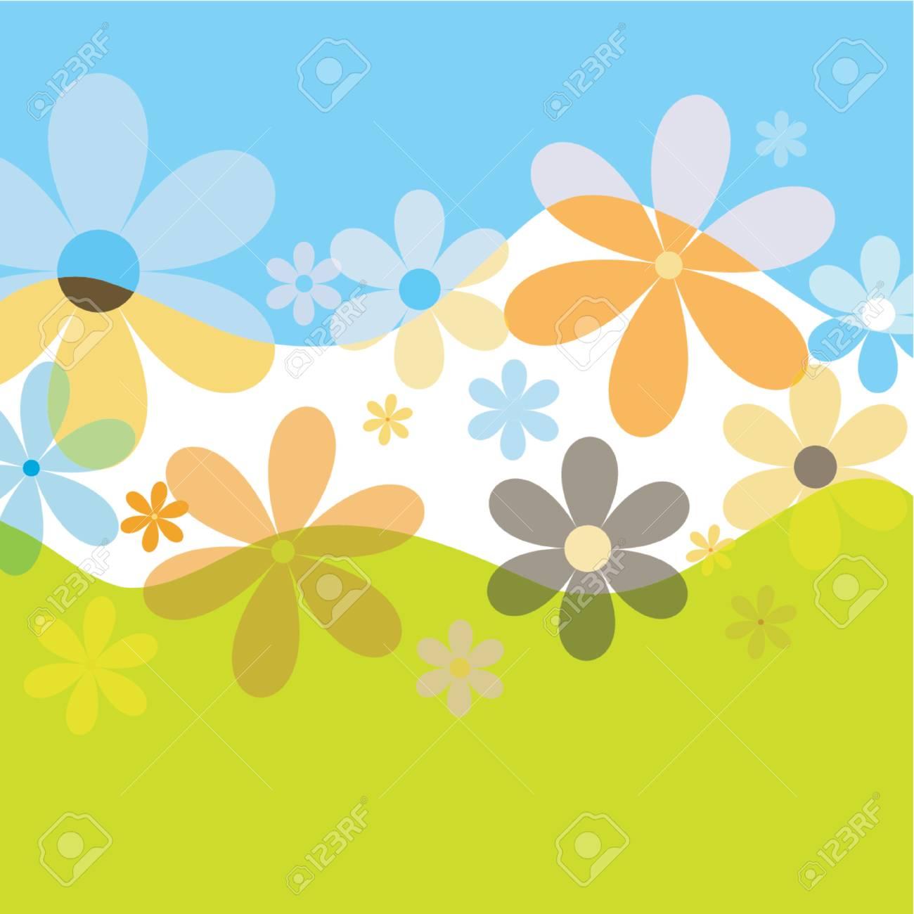 Spring flowers - vector Stock Vector - 441394