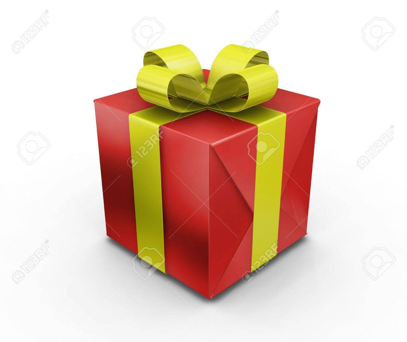 3D render of a wrapped gift Stock Photo - 494589
