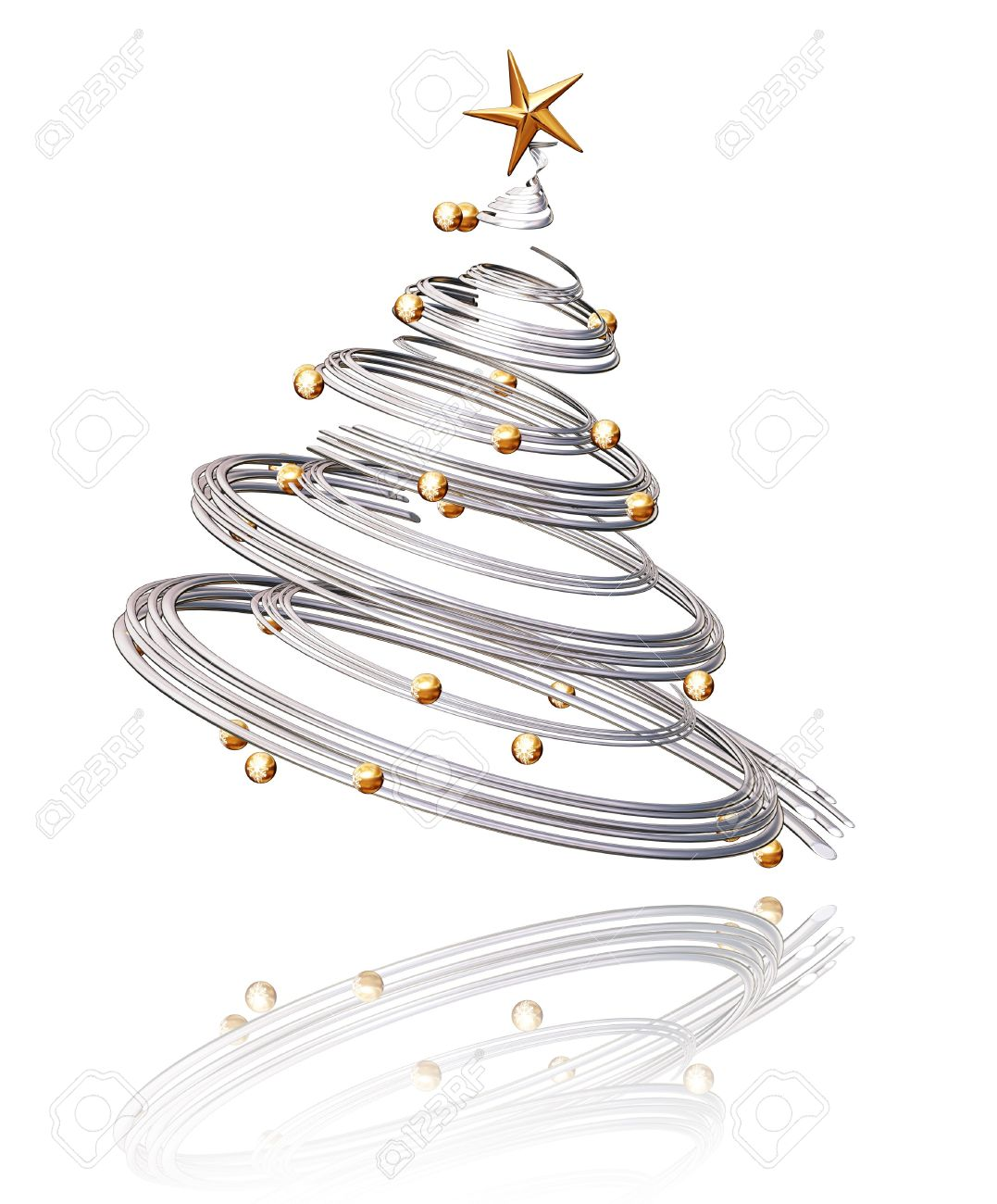3D Christmas tree Stock Photo - 494558