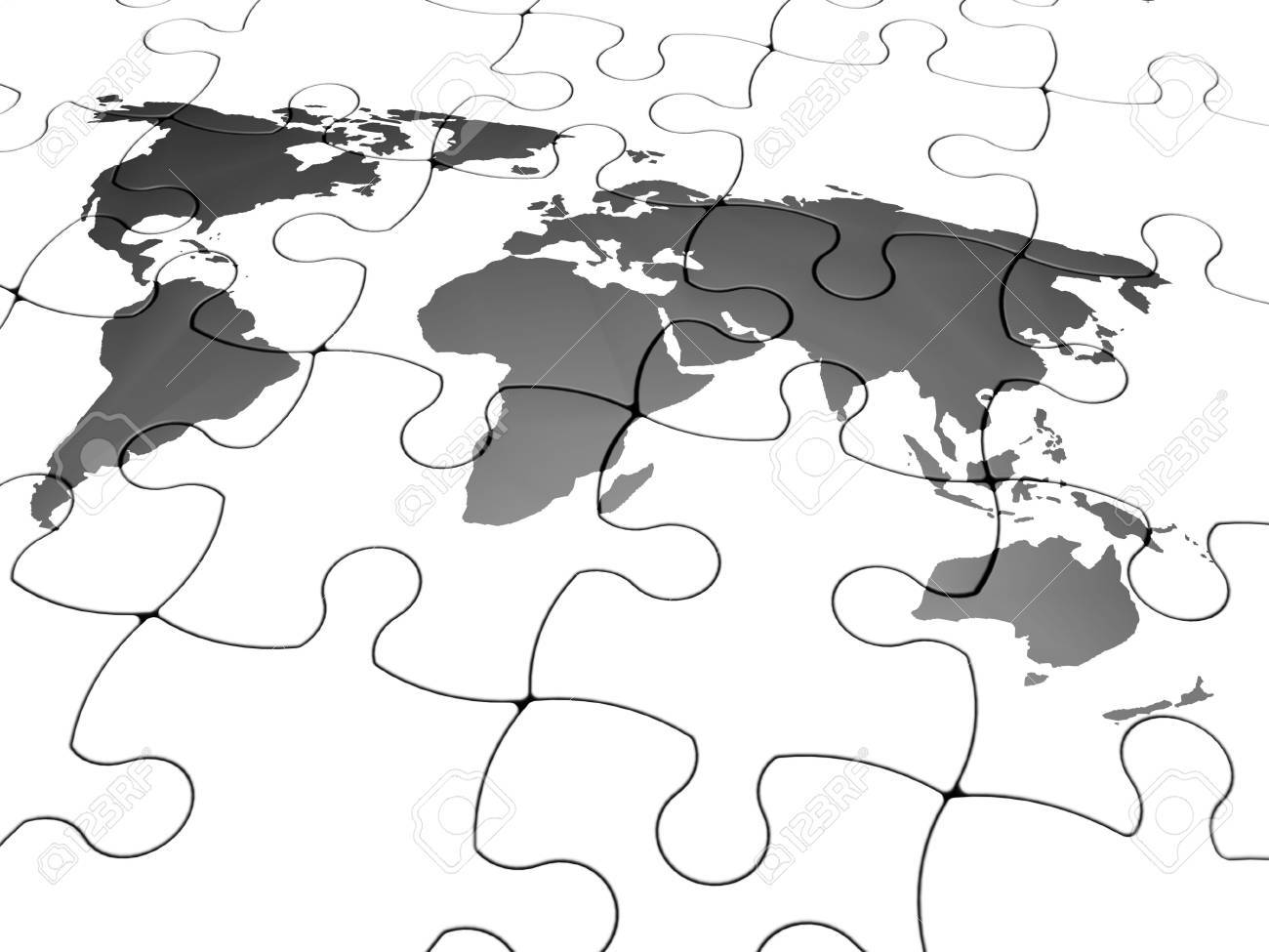 3d render of a jigsaw puzzle with the world map stock photo picture 3d render of a jigsaw puzzle with the world map stock photo 833623 gumiabroncs Gallery