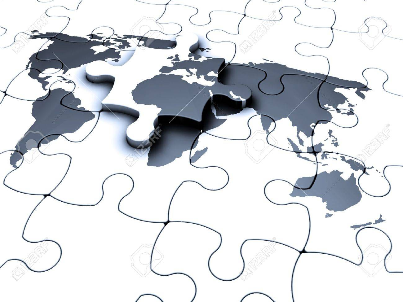 3d render of a jigsaw puzzle of a world map with the final piece 3d render of a jigsaw puzzle of a world map with the final piece being fitted gumiabroncs Gallery