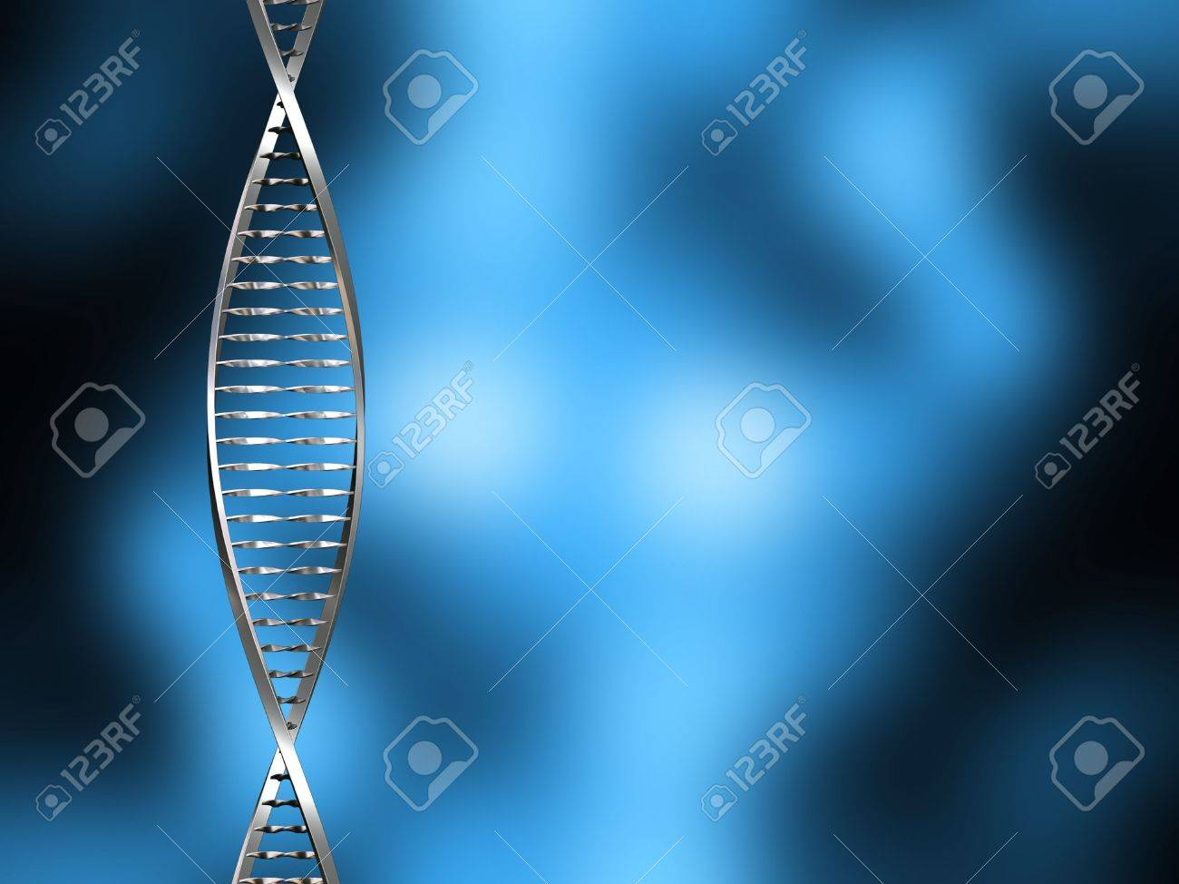 DNA strands on blur background Stock Photo - 1350508