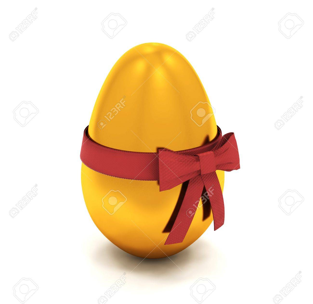 3d render of an easter egg with ribbon stock photo picture and
