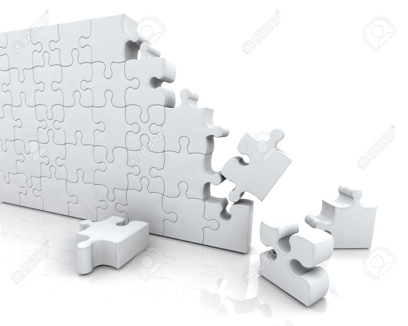 3D render of an unfinished jigsaw puzzle Stock Photo - 4936068