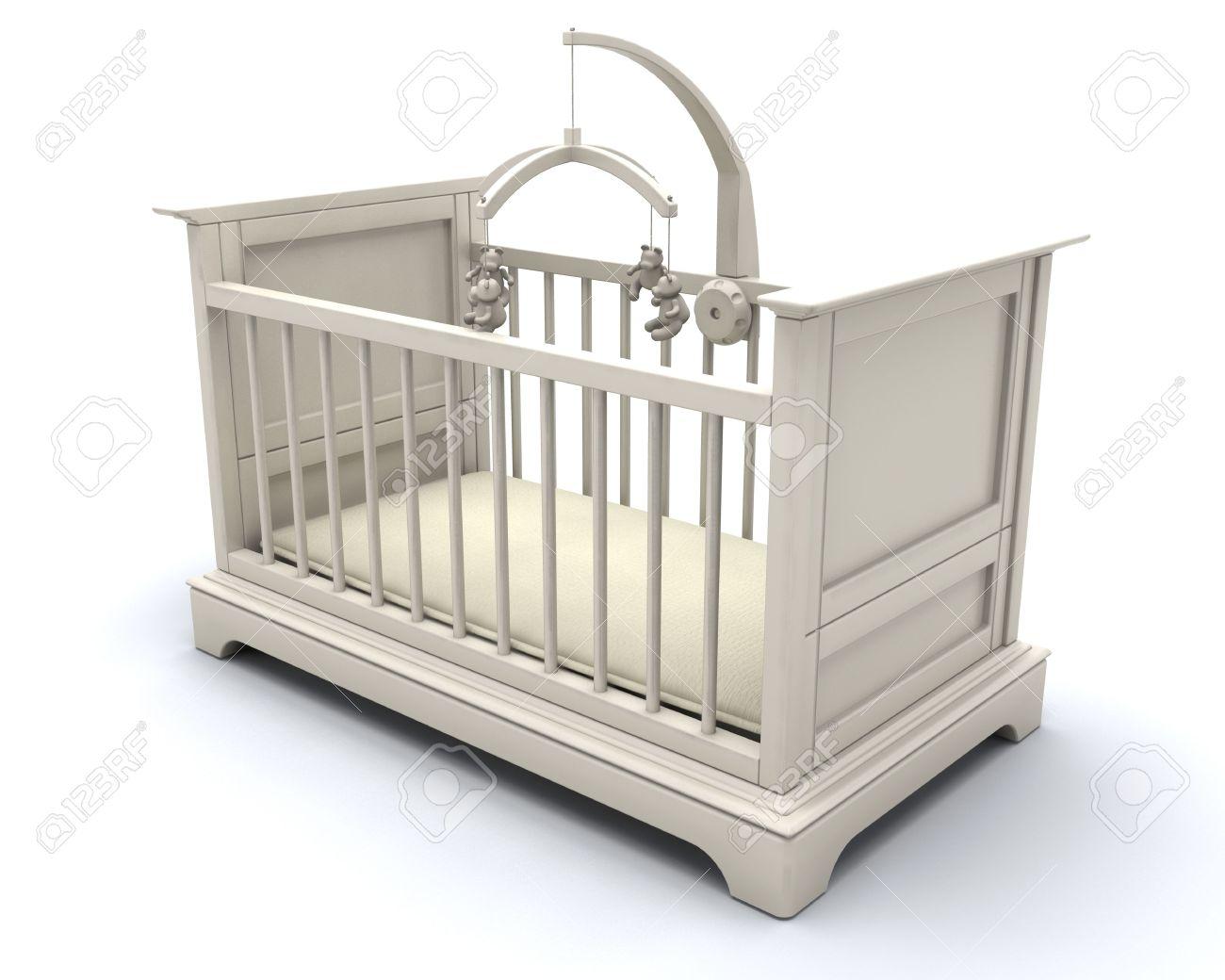3D Render De Una Cuna Para Un Bebé Fotos, Retratos, Imágenes Y ...