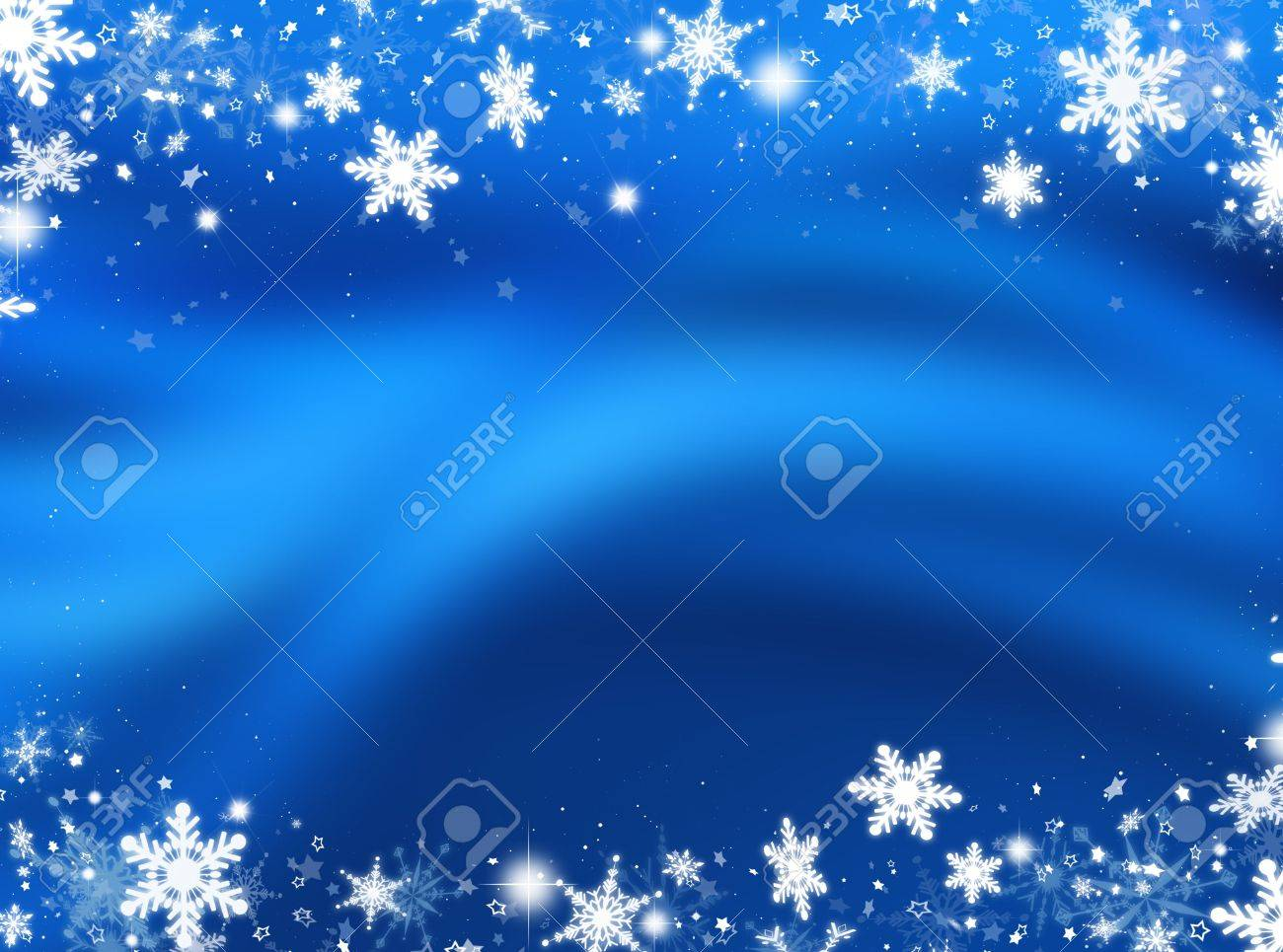 Abstract background of snowflakes and stars - 5842381