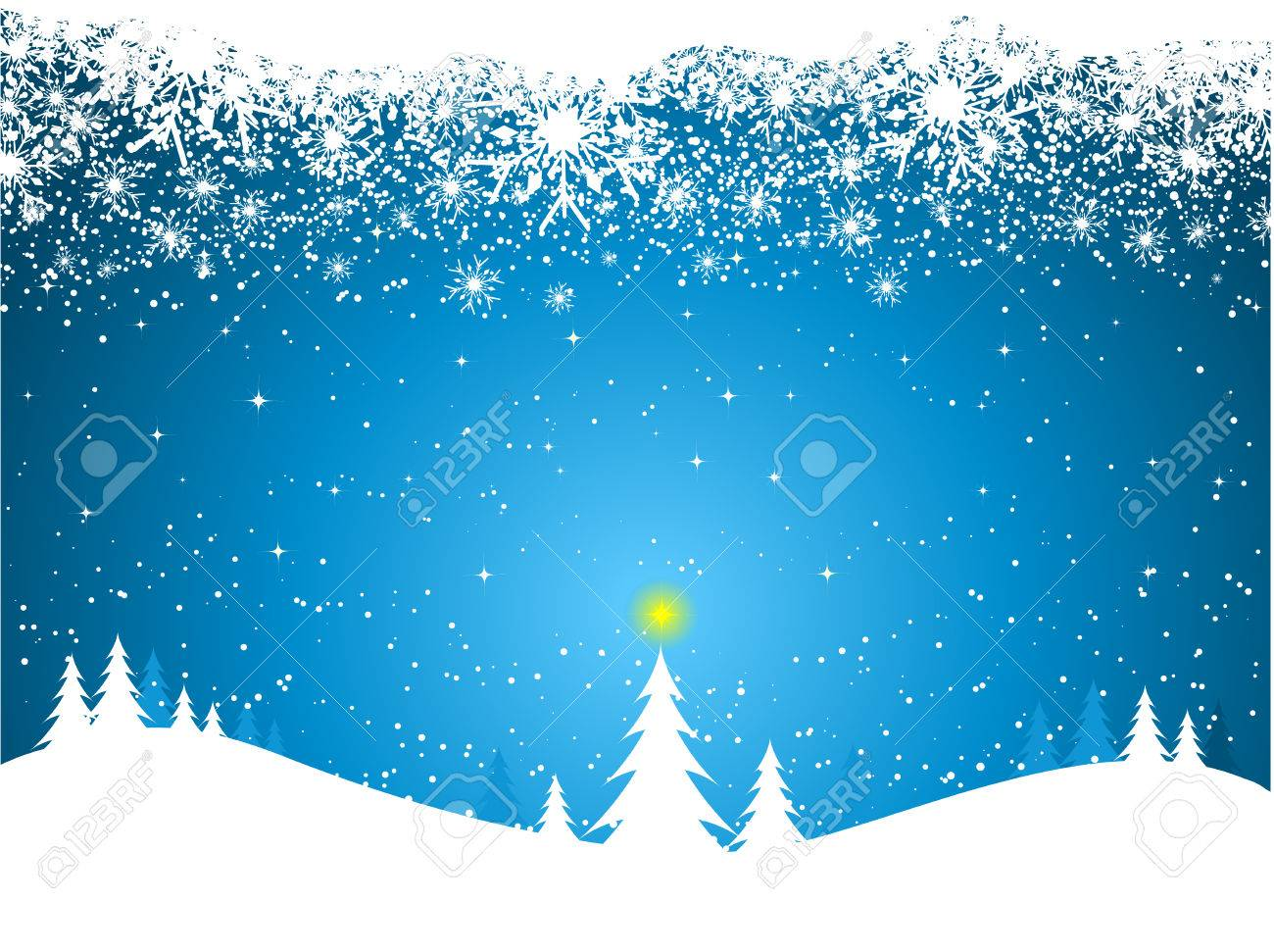 Snowy Border Royalty Free Stock Images - Image: 301109