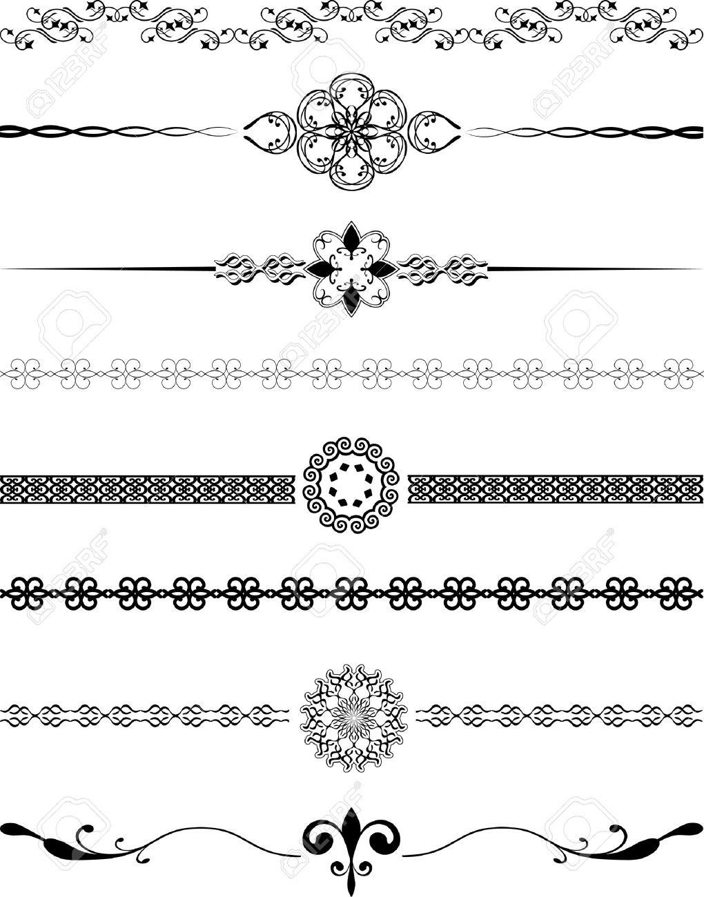 Various different designs of decorative borders Stock Vector - 6281674