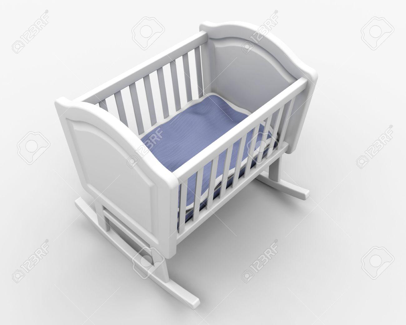 Baby cribs rocking - Rocking Crib For New Born Baby Boy Stock Photo 6469517